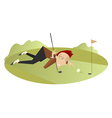 Good day for playing golf 8 vector image vector image
