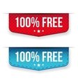Hundred percent free ribbon set vector image vector image