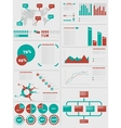 INFOGRAPHIC DEMOGRAPHICS 5 RED vector image vector image
