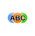 letter abc logo design template elements vector image vector image