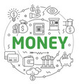 line flat circle money vector image vector image