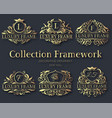 luxury label or king place symbol element with vector image vector image