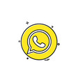 media network social whatsapp icon design vector image