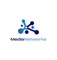 media networks logo design symbol vector image vector image