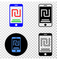 mobile shekel account eps icon with contour vector image