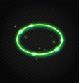 neon green oval frame with space for text vector image vector image