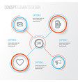 network icons set collection of online chatting vector image vector image