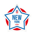 new york usa flag stripes and star vector image vector image