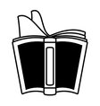 open book school utensil outline vector image