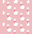 pattern with cute llama valentine print vector image
