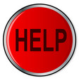 red help button vector image vector image