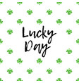saint patricks day greeting card with sparkled vector image vector image