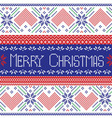 Scandinavian Merry Christmas seamless pattern vector image vector image