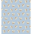 Seamless doodle vintage pattern with a bulldog
