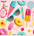 seamless pattern vivid summer sweets vector image