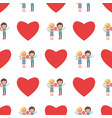 seamless pattern with boy and girl couple wings vector image