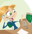 Secretary tb vector image