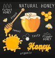 set of jars with honey vector image vector image