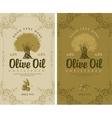 set of labels for olive oils vector image vector image