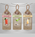 set of restaurant labels cocktail menu design vector image