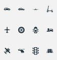 set of simple transportation vector image