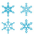 set of snowflake icons isolated on white vector image