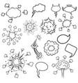 set pop art style cartoon explosions design vector image