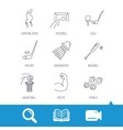 Skipping rope football and golf icons vector image vector image