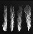 smoke waves set on transparent background vector image