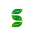 stylized letter s eco logo from three green vector image vector image
