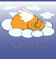 sweet little kitten like an angel poster vector image