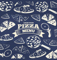 vintage pizza menu cover design vector image vector image
