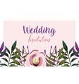 wedding ornament floral decorative fashion vector image vector image