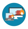 Firewall Icon Flat vector image
