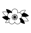 cute flower emblem icon vector image