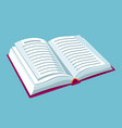 open book with text for education vector image