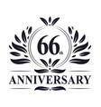 66th anniversary logo 66 years celebration