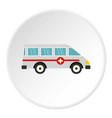 ambulance car icon circle vector image vector image