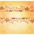 Autumn maple leaf frame with copy space on vector image vector image