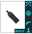 baby bottle icon flat vector image