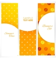 Banners set with polka dots texture vector image vector image