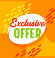 best offer sale banner in funky style with vector image vector image