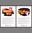 black friday sale tags promo labels web vector image vector image