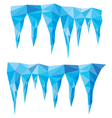 blue crystal icicles vector image vector image