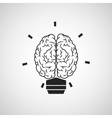 Brain design organ icon Flat vector image