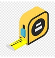 Builders tape measure isometric 3d icon vector image vector image