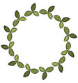 clover leaves wreath floral ornament vector image