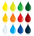 colorful drops vector image vector image