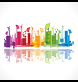colorful ecology or renewable energy city vector image