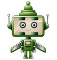 cute robot cartoon isolated on white background vector image vector image
